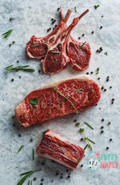 Raw red meat cuts Lamb meats for dogs