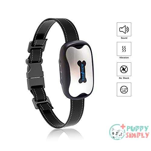 POP VIEW Bark Collar Humanely Stops Barking