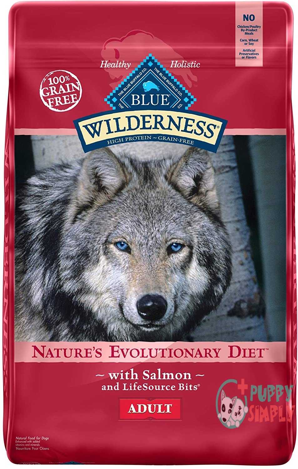 Wilderness Blue Buffalo High Protein Dry Adult Dog Food With Salmon
