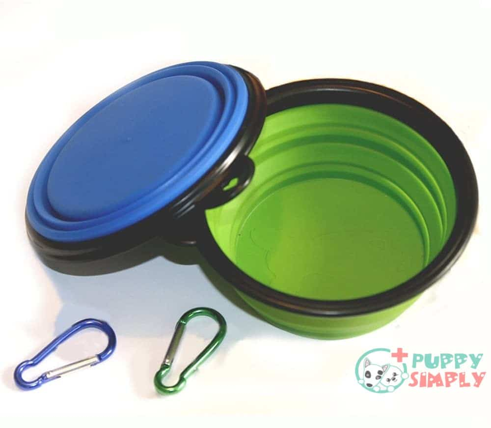 COMSUN 2-Pack Collapsible Dog Bowl,