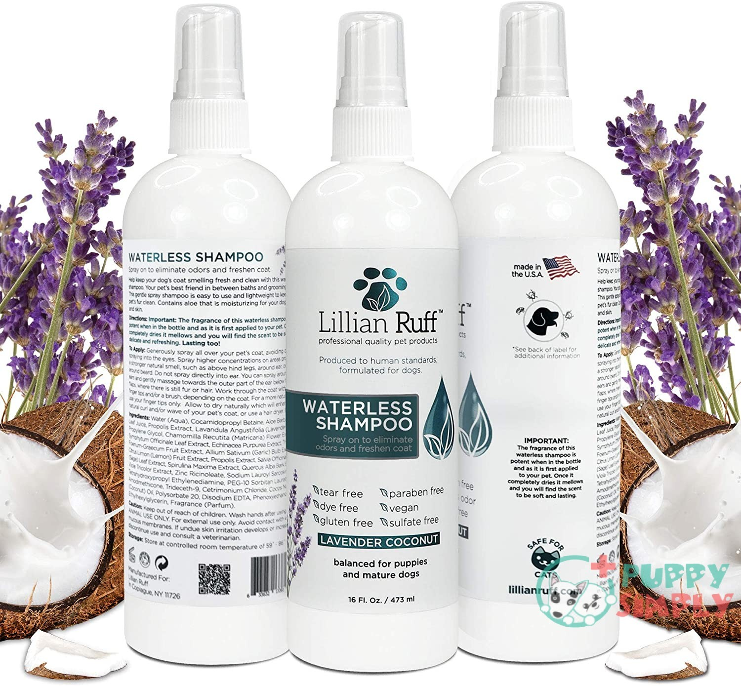 Lillian Ruff Waterless Dog Shampoo